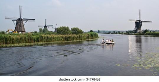 Kinderdijk - famous place of the  Netherlands
