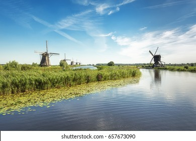 The Kinderdijk mills cover nineteen mills in the northwest of the Alblasserwaard, a polder in the province of Zuid-Holland in The Netherlands