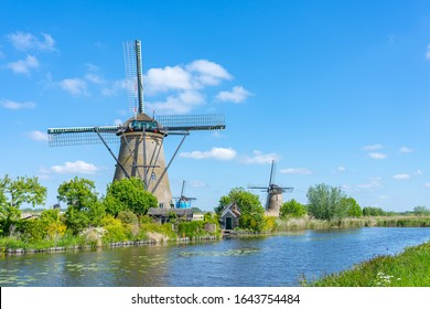 Kinderdijk Village in the municipality of Molenlanden, in the province of South Holland, Netherlands.