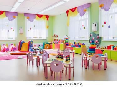 Kindergarten, game room.