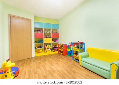 Kindergarten game room.