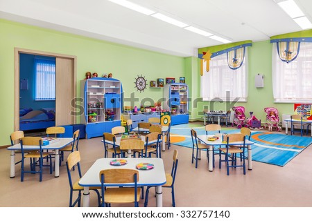 Kindergarten, games room and study.