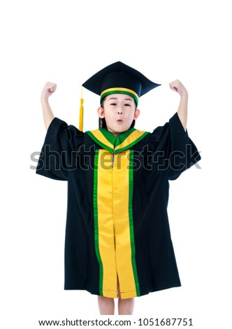 Kindergarten Graduation Happy Asian Child Graduation Stock Photo