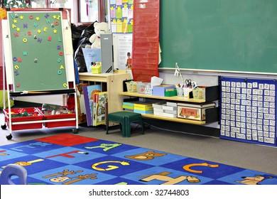 Kindergarten, preschool classroom.