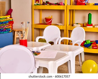 kindergarten tables and chairs in interior decoration shelves for toys preschool class waiting kids preschool art table t92 art