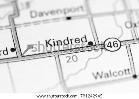 Kindred North Dakota USA On Map Stockfoto (Jetzt bearbeiten ...