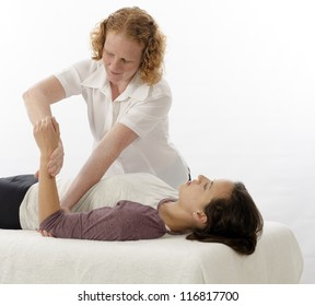 Kinesiologist or physiotherapist treating Brachioradialis