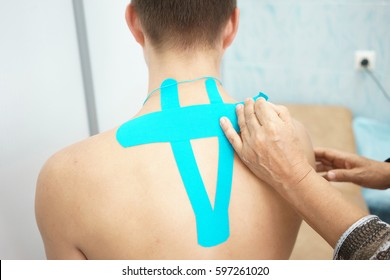 Kinesiology tape doctor spine man