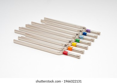 In kinesiology, tuning forks are used to vibrate the chakras. A different vibration is used for each chakra.