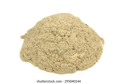 Kinetic Sand In A Heap Close-up For Children Creativity And Indoor Or Outdoor Game Isolated On White Background
