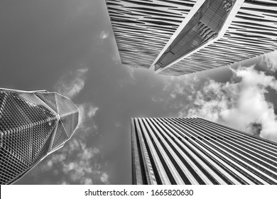 King Abdullah Financial District January 31, 2020 Large buildings equipped with the latest technology, Saudi Arabia, Riyadh,