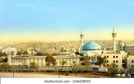 King Abdullah Mosque in Amman Jordan