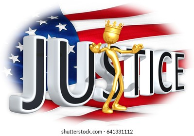 The King Of America Obstructing Justice The Original 3D Character Illustration