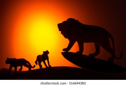 the king of beasts silhouette