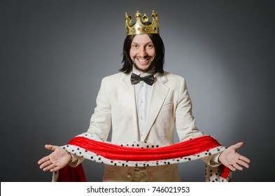 King businessman in royal business concept