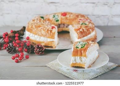 King cake typical spanish dessert for Christmas
