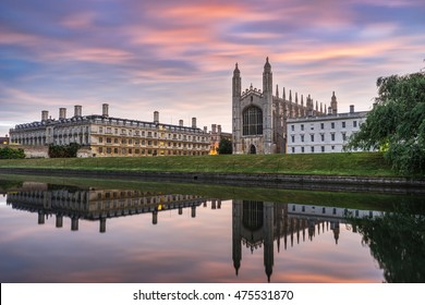 King Chapel in Cambridge at sunrise. England