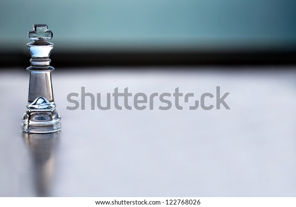King chess piece - business concept series: -  strategy, CEO, manager, boss, strength, mentor, business coaching, business consulting and business success. Space for text  - business card design.