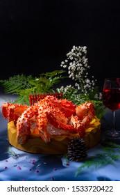 King crab, japanese food., Taraba crab or Red King Crab Japanese food, Picture with selective and soft focus