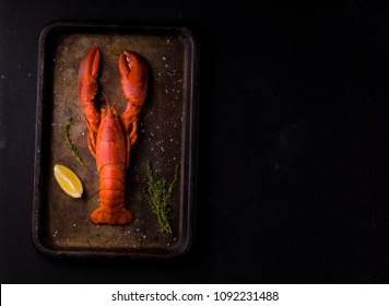 king crab and lobster