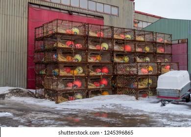 king crab trap box at fishing industry