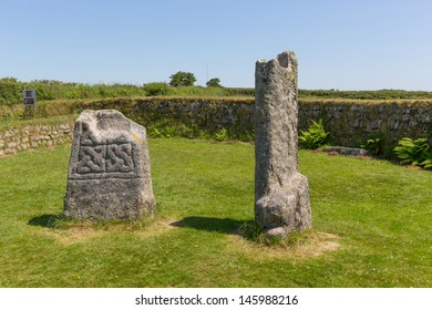 King Doniert`s Stone Bodmin Moor Cornwall England, Cornish tourist attraction.   King Doniert`s Stone Bodmin Moor Cornwall England UK tourist attraction.   Commemorating Cornish King Dumgarth,