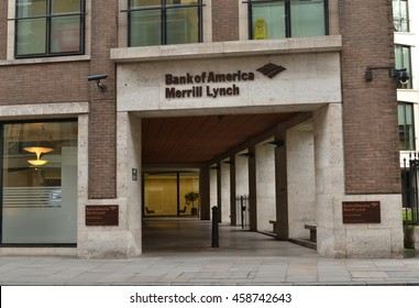 King Edward Street London December 2015; Bank of America Merrill Lynch offices in St.Paul's