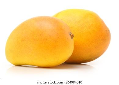 King of fruits; Alphonso yellow Mango fruit  isolated on white background