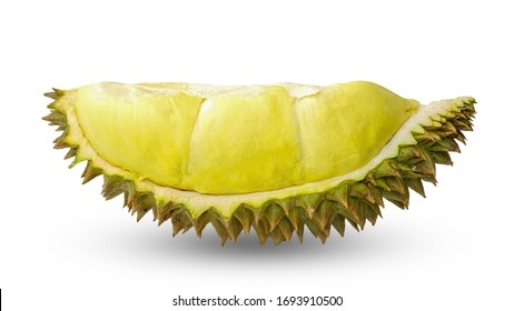 King of fruits, durian isolated on white background with clipping path.