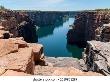 King George River Gorge from top of King George Falls, Kimberley coast, Australia