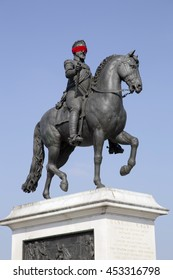 King Henry statue in Paris, France