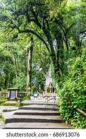 King Inthanon Memorial Shrine in Doi Inthanon national park, Thailand.