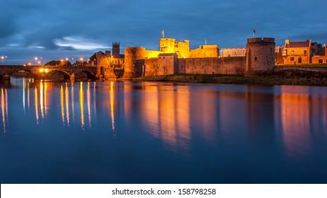 King John's Castle at night, Limerick, Ireland