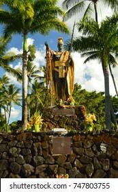 King Kamehameha. Hawaii, Big Island, USA, EEUU.