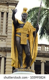 King Kamehameha Statue in front of Aliiolani Hale