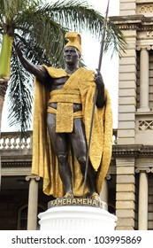 King Kamehameha Statue in front of Aliiolani Hale