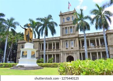 King Kamehameha Statue in Honolulu.