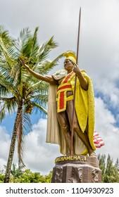 King Kamehameha Statue on Big Island, Hawaii