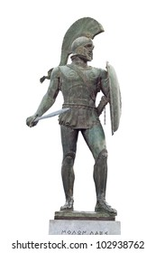 King Leonidas of the 300 soldiers. Statue found at Sparta city in Greece