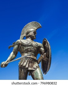 King Leonidas statue in Sparta Greece