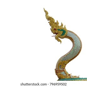King of naga isolated On White Background With Clipping path ( Right )