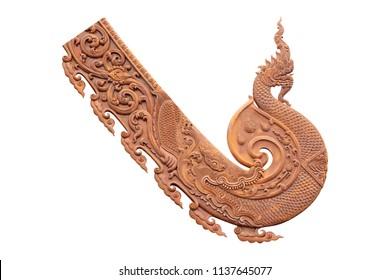 king of naga wood carving isolated on white background