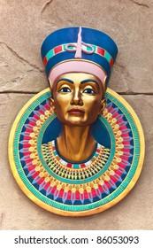 king pharoah color on rock background