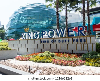 KING POWER Rangnam Phayathai, Ratchathewi BANGKOK THAILAND-30 OCTOBER 2018;Thai Duty Free Retail Business Established in 1989 by Wichai Srivattanapropha, formerly known as Downtown DFS (Thailand) Ltd.