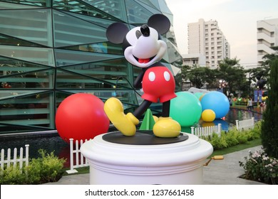 KING POWER Rangnam Thailand. November 17th, 2018. Mickey Mouse figure for  Celebration of Mickey Mouse's 90th Anniversary.