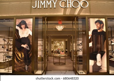 KING OF PRUSSIA, PA - MAY 6: Jimmy Choo store at King of Prussia Mall in Pennsylvania, as seen on May 6, 2017. It is the largest shopping mall in the United States of America in leasable retail space.
