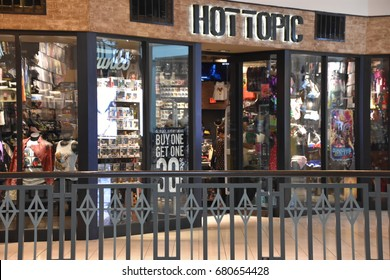 KING OF PRUSSIA, PA - MAY 6: Hot Topic store at King of Prussia Mall in Pennsylvania, as seen on May 6, 2017. It is the largest shopping mall in the United States of America in leasable retail space.