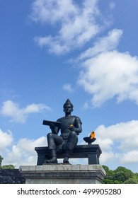 King Ramkhamhaeng the great. Emperor of Sukhothai empire who firstly invented Thai alphabet and started Thai History.