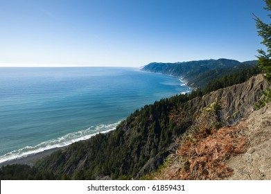 The King Range National Conservation Area  runs along California's northern Pacific coastline.