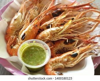 King river prawns are cooked using a charcoal stove. When the shrimp is cooked, the meat will be soft and firm. The shrimp head will be in creamy orangy color with an extremely good taste.